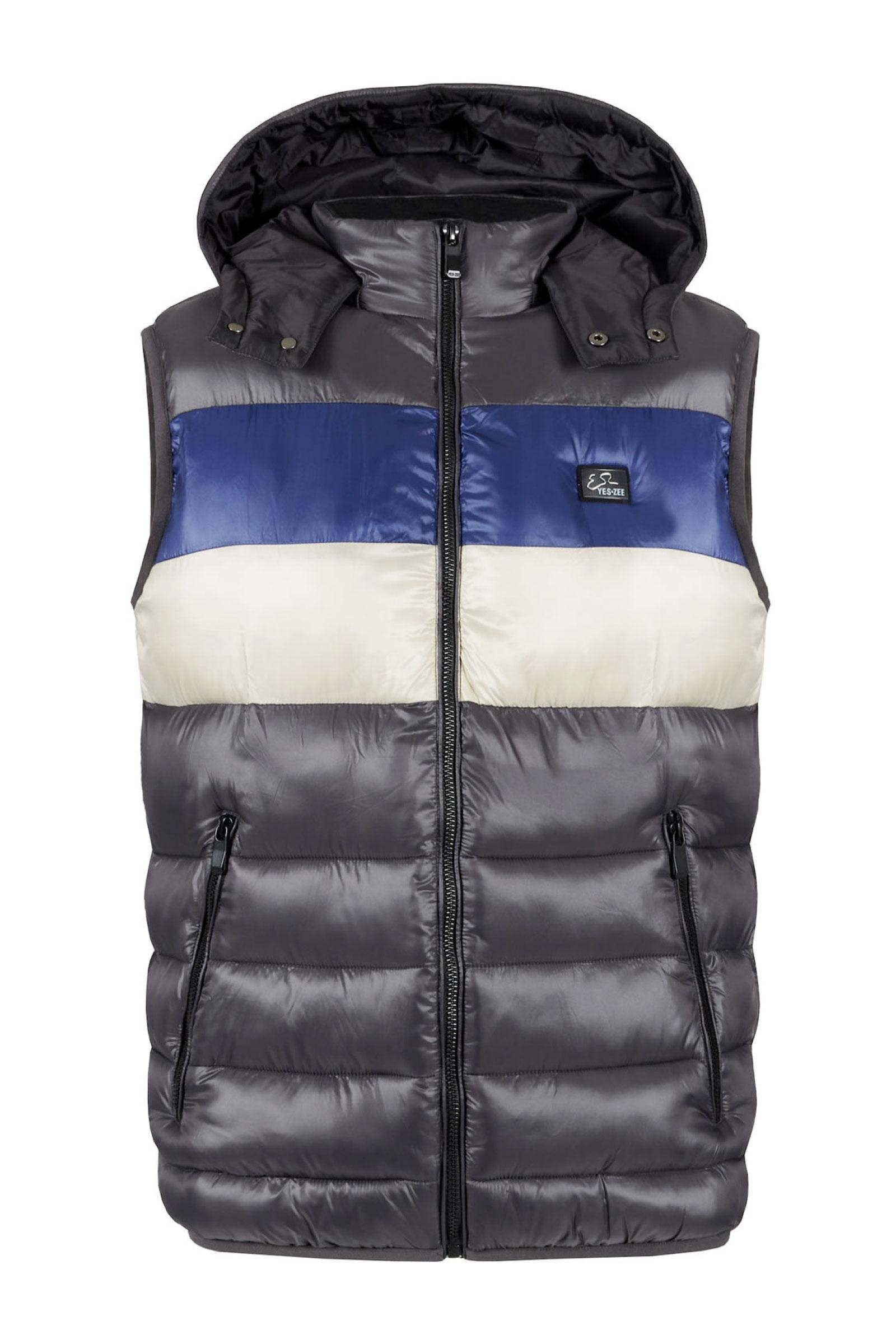YES ZEE Men's Sleeveless Jacket YES.ZEE | Jacket | J907 Q7002879