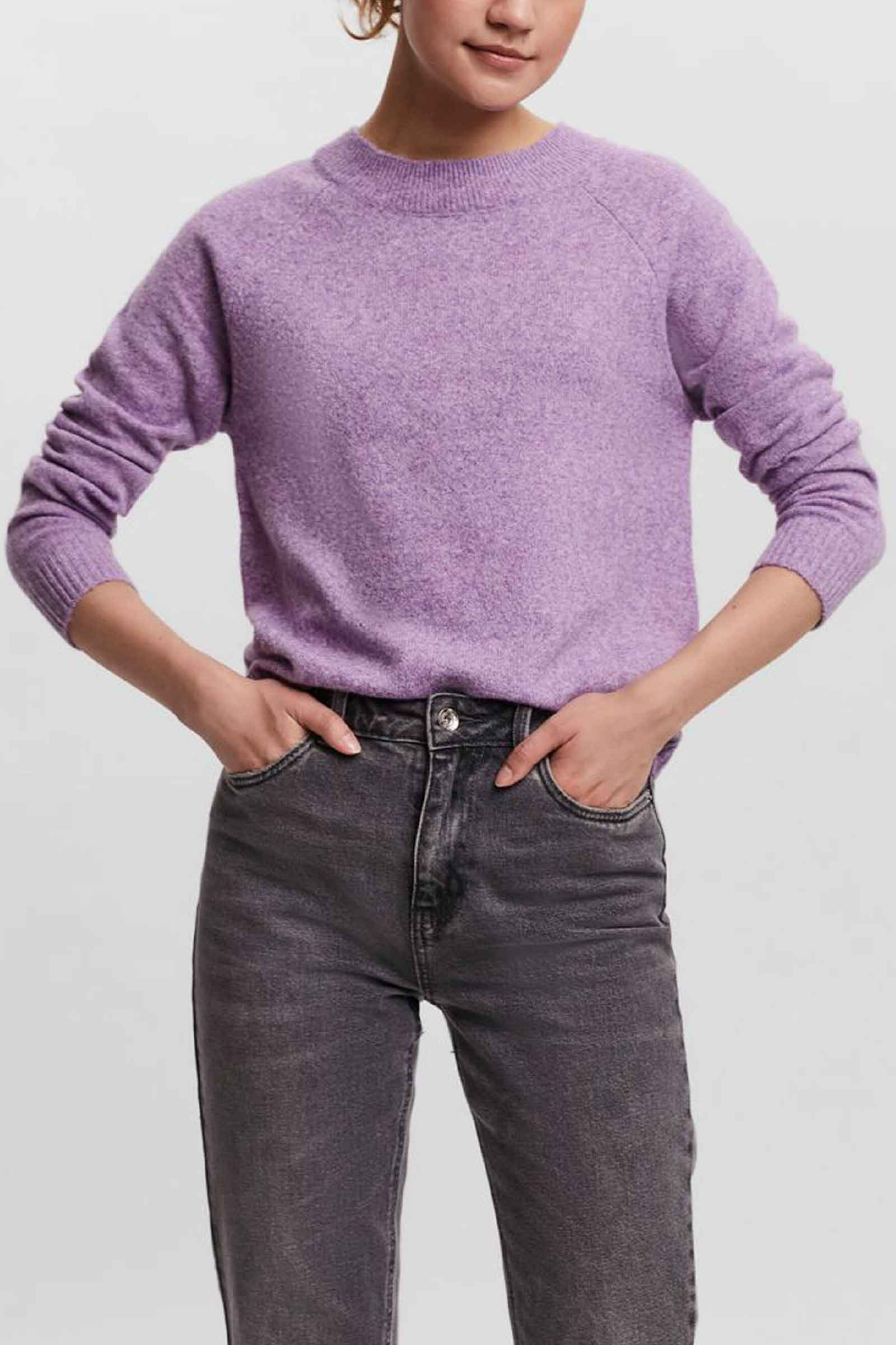 Pullover Donna Hyacinth VERO MODA   Maglia   10201022Detail-MELANGE