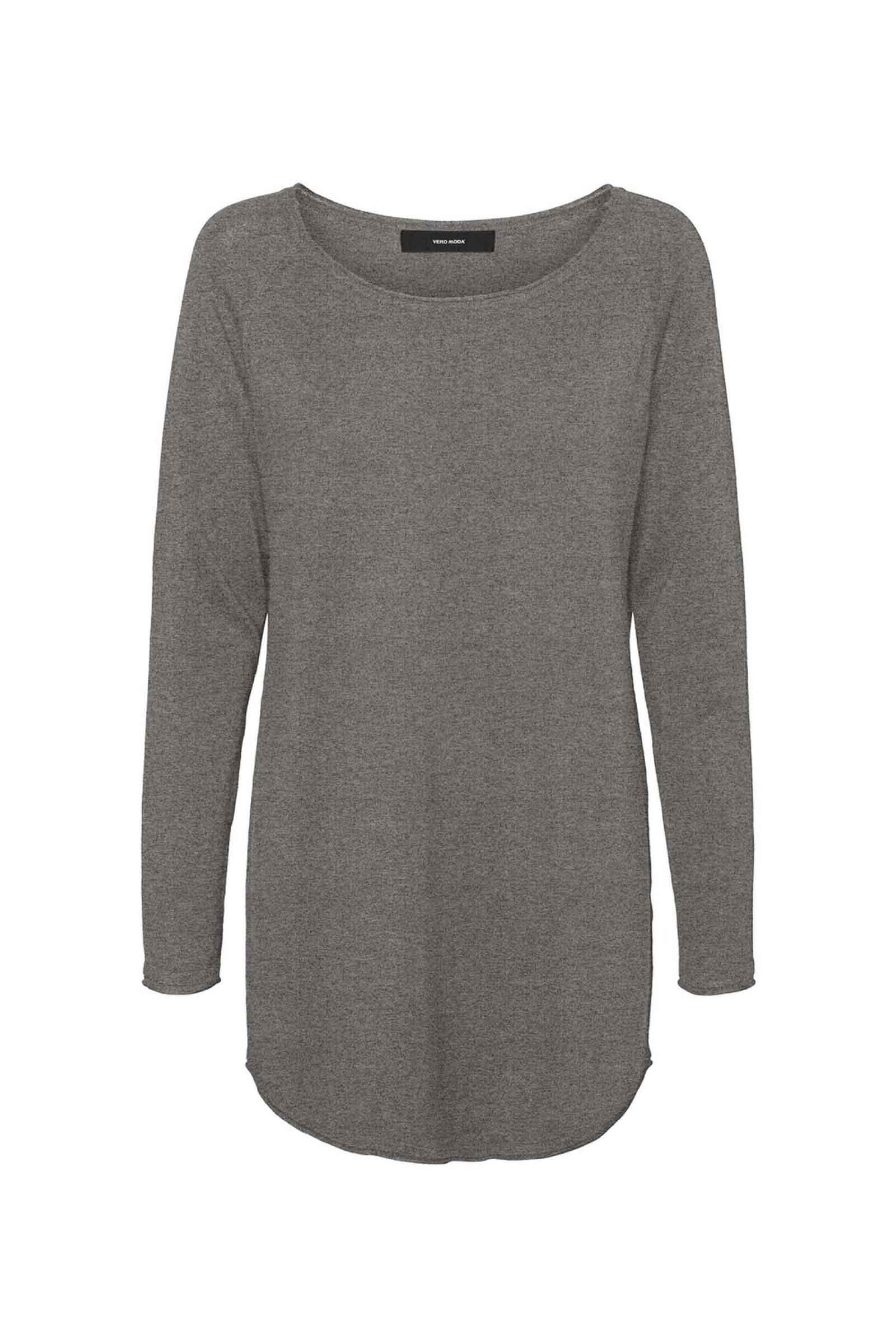 Women's Medium Grey Melange Sweater VERO MODA | Mesh | 10220902Medium Grey Melange