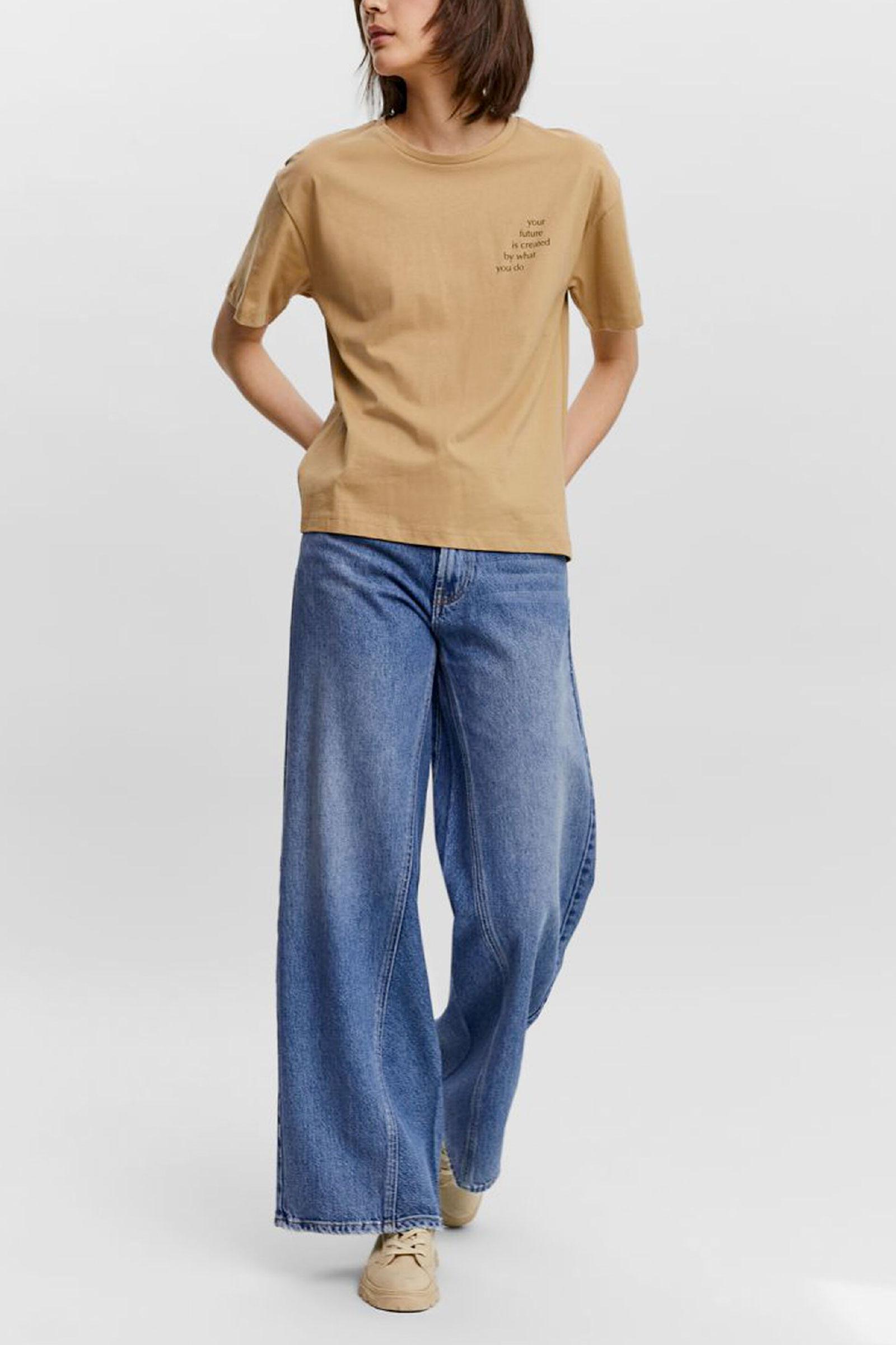 T-Shirt Donna VERO MODA   T-Shirt   10235139Detail-BLACK DIAGONAL