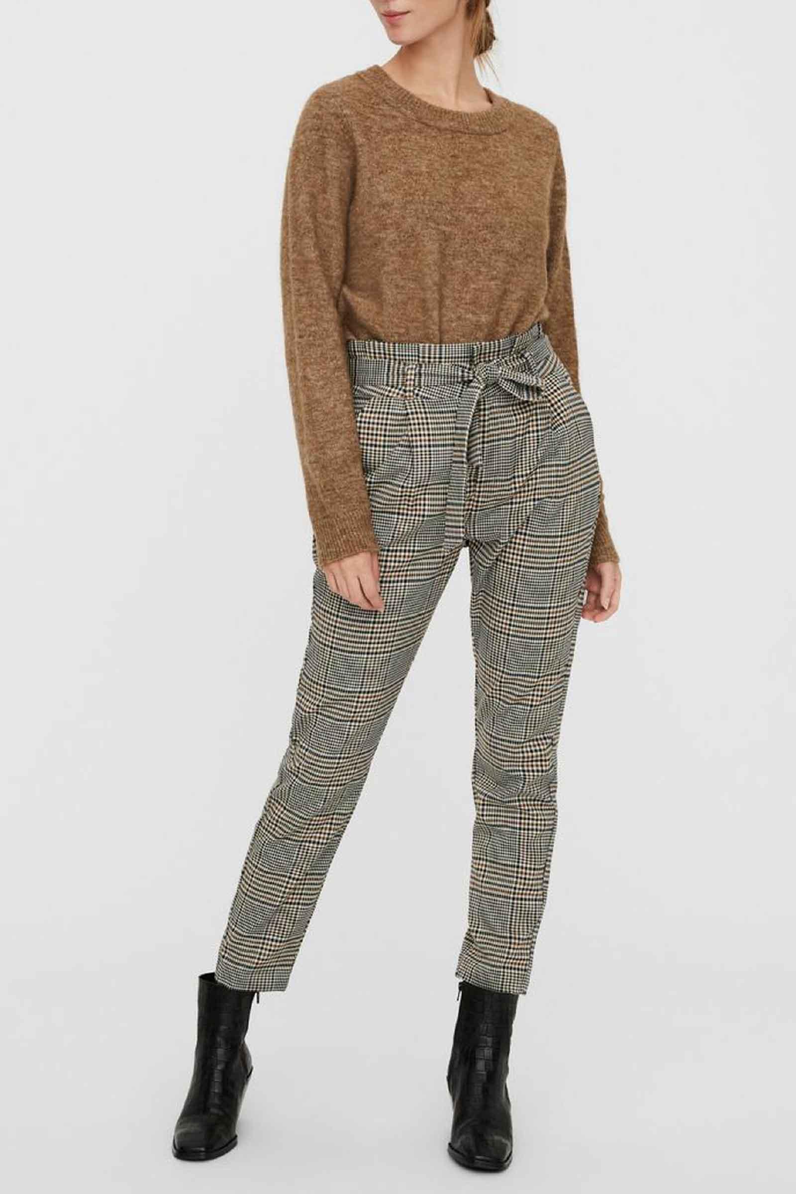 Woman Trousers VERO MODA | Trousers | 10250396Checks-BLACK- WHITE- GREEN
