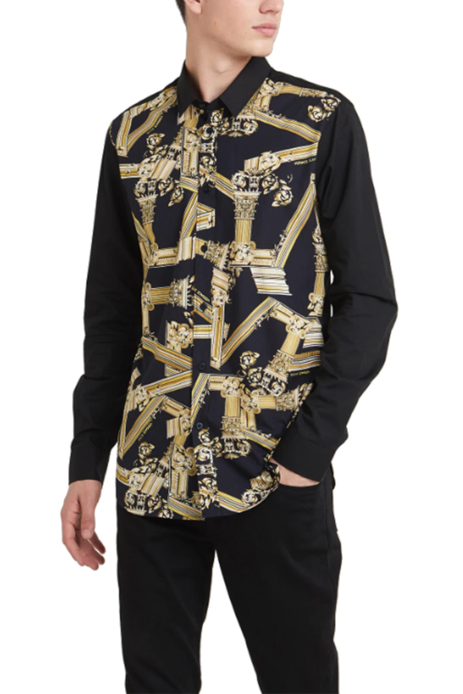 diversamente b73f3 bc823 Camicia Versace Jeans Nera Santangelostore Uomo tQrdCxsh