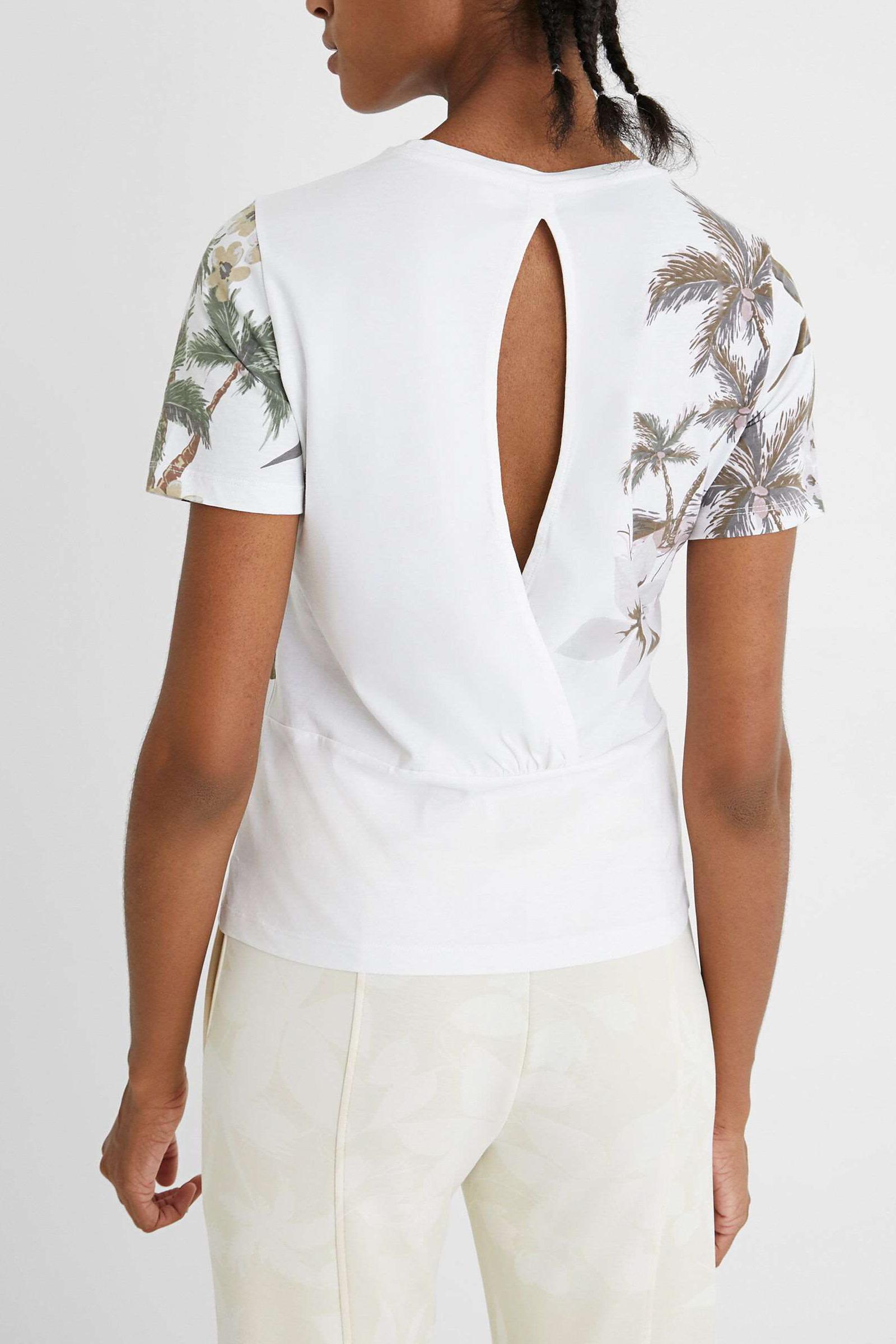 T-Shirt Modello TEE CROSSED OPEN BACK LIFE DESIGUAL | T-Shirt | 21SOTK061000