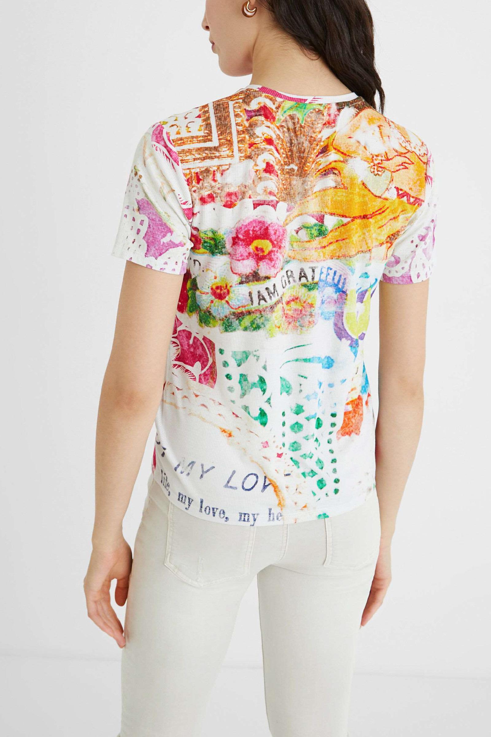 T-Shirt Modello TATTOO DESIGUAL   T-Shirt   21SWTKDT1001