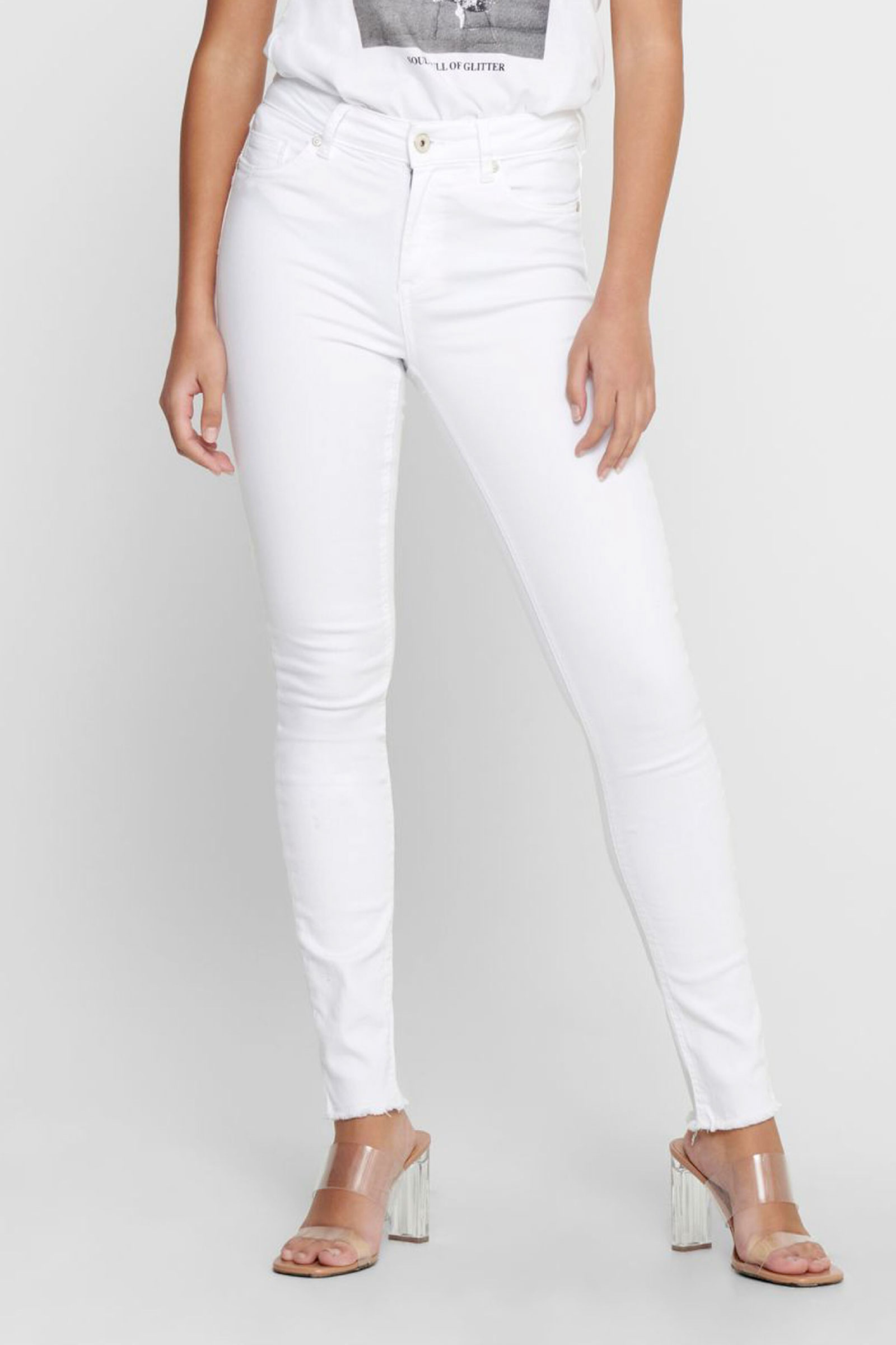 ONLY JEANS Donna Modello BLUSH ONLY | Jeans | 15155438White