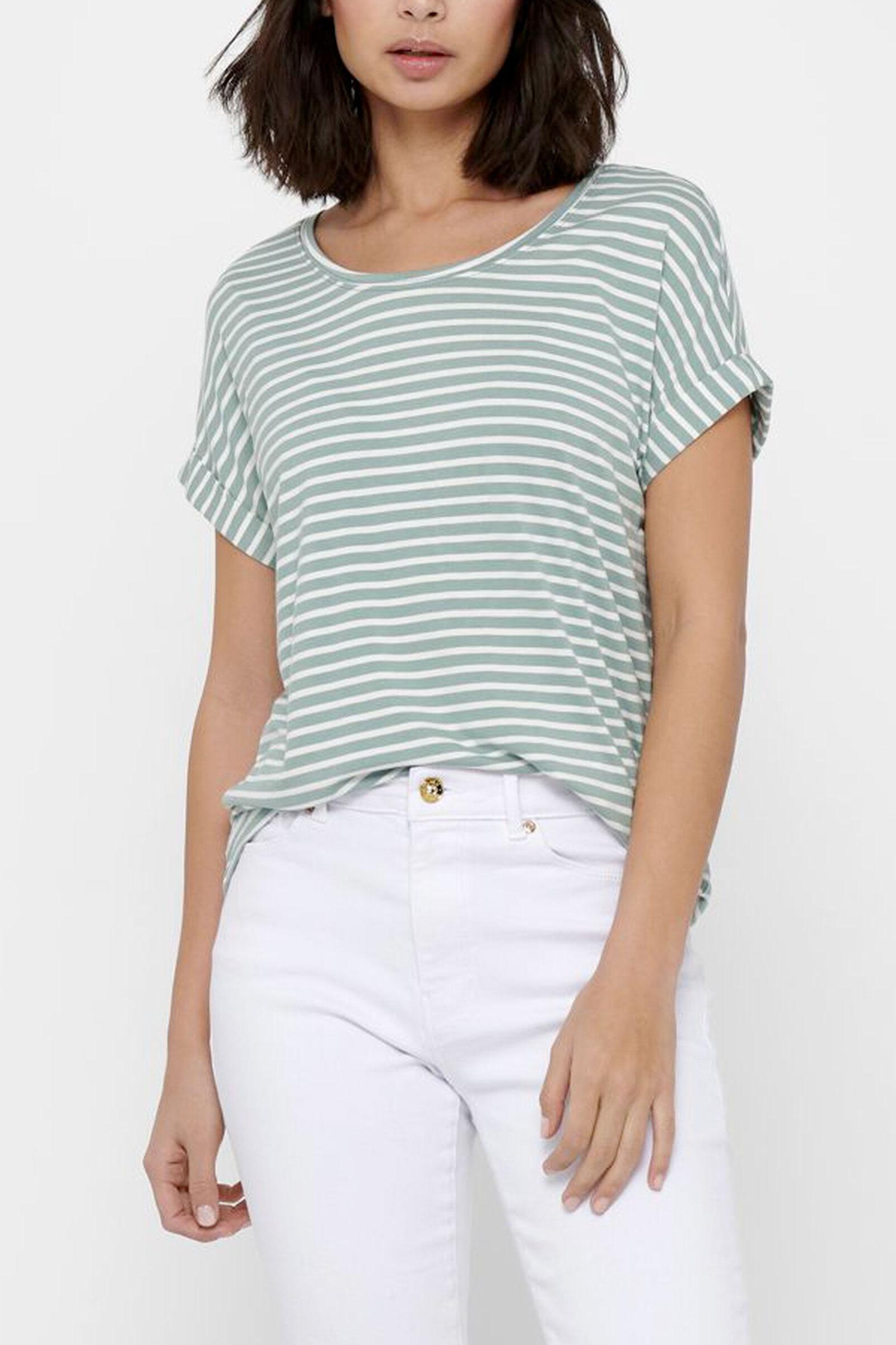 ONLY Woman T-Shirt ONLY | T-Shirt | 15206243Stripes-CLOUD DANCER