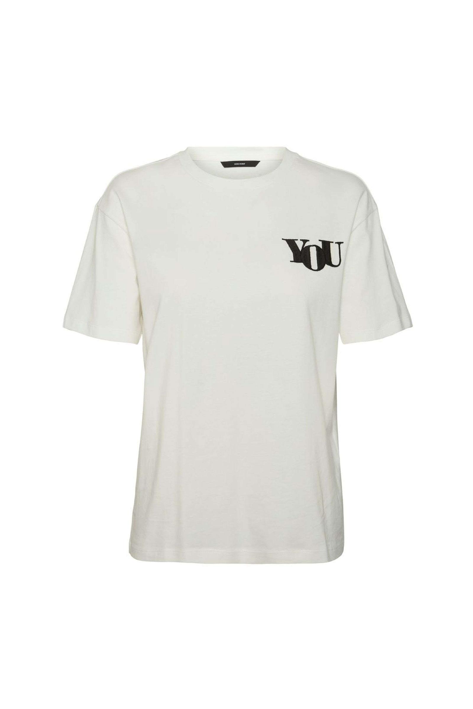 VERO MODA T-SHIRT Donna Modello NILI VERO MODA | T-Shirt | 10241344Print-BLACK YOU