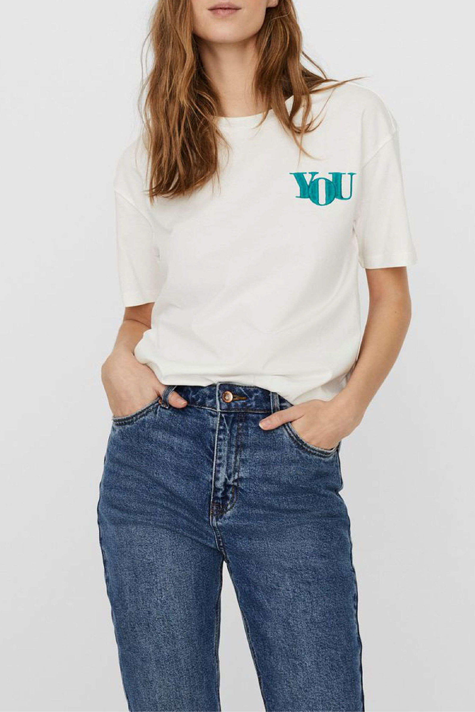 VERO MODA Women's T-Shirt VERO MODA | T-Shirt | 10241344Print-PARASAILING YOU