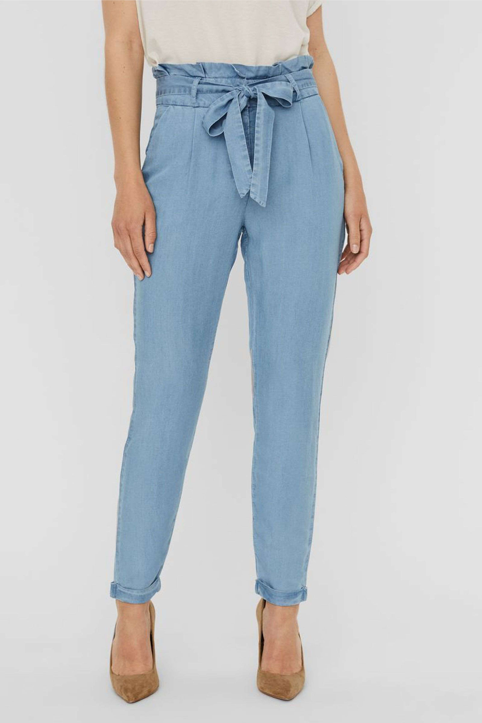 VERO MODA PANTALONE Donna Modello VIVIANAEVA VERO MODA | Pantalone | 10242257Light Blue Denim