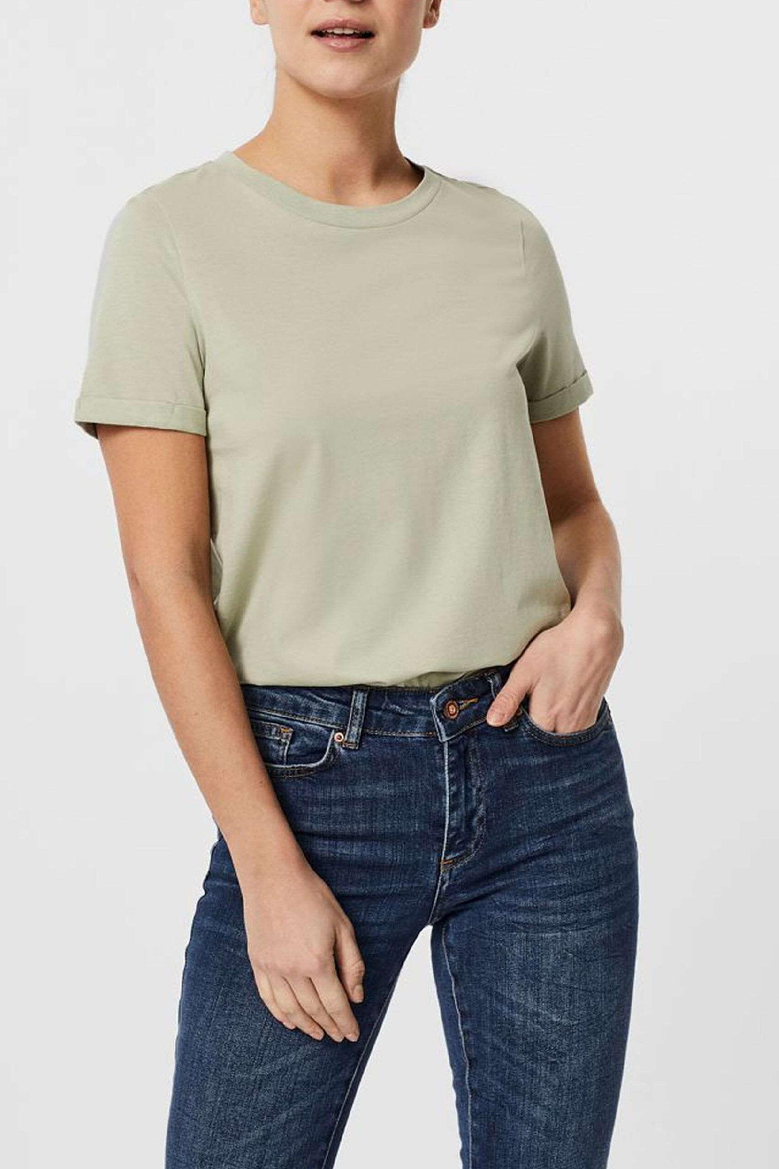 VERO MODA T-SHIRT Donna Modello PAULA VERO MODA | T-Shirt | 10243889Desert Sage