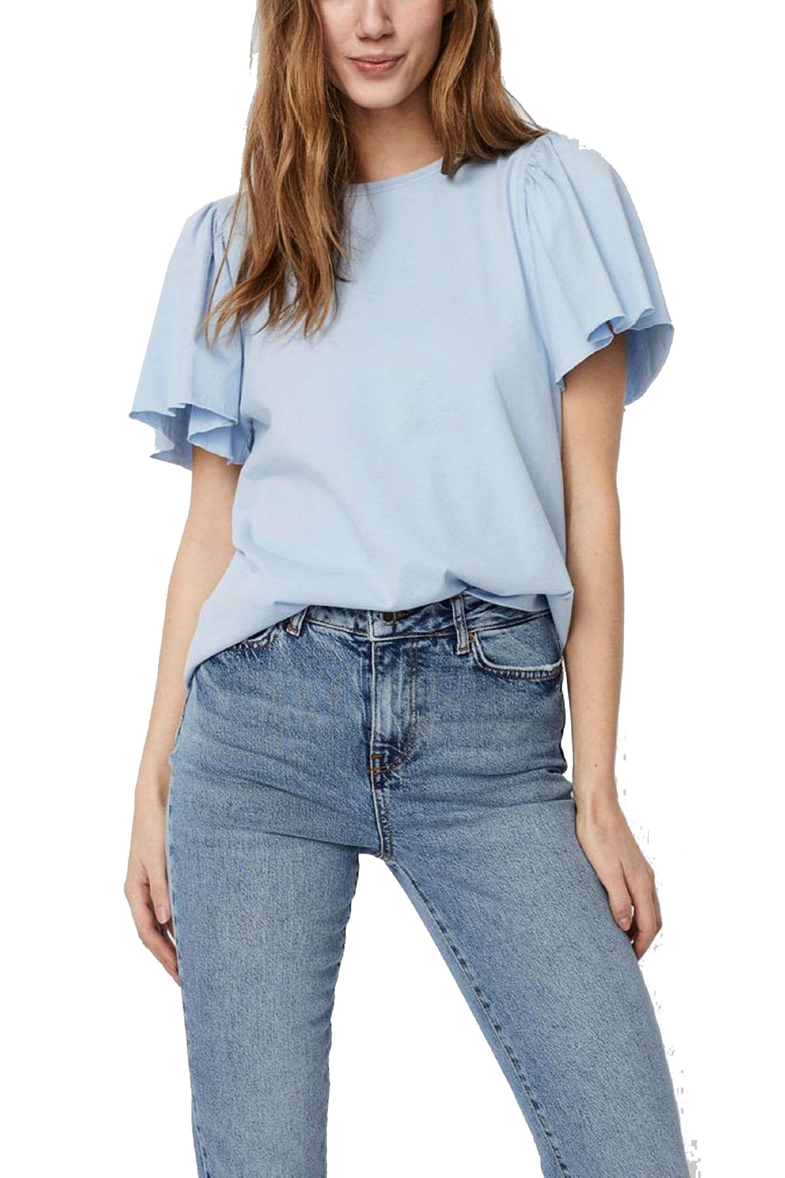 VERO MODA T-SHIRT Donna Modello ONELLA VERO MODA | T-Shirt | 10244714Cashmere Blue