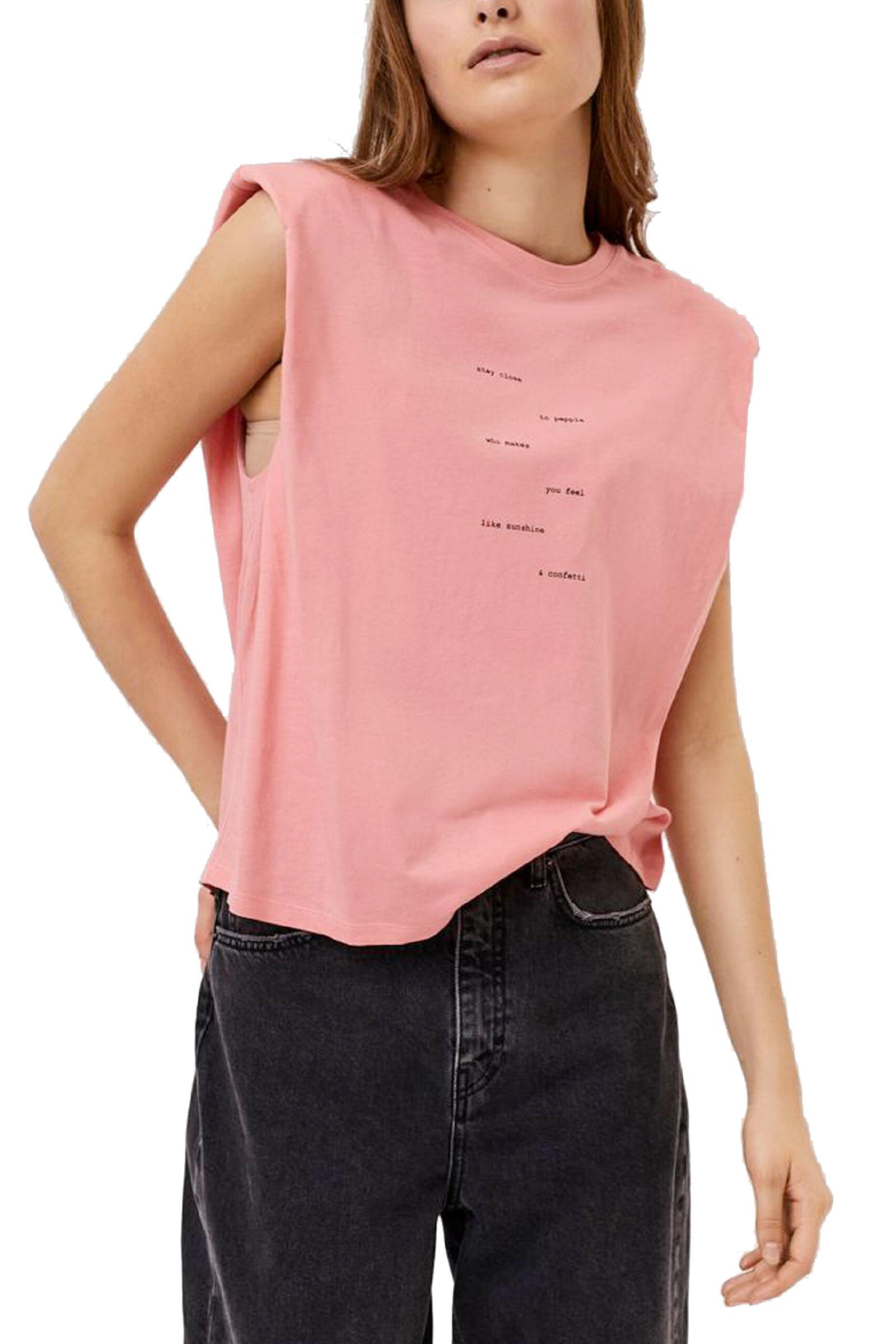 VERO MODA T-SHIRT Donna Modello HOLLIE VERO MODA   T-Shirt   10245256Print-TEXT FROMS IDE TO SIDE