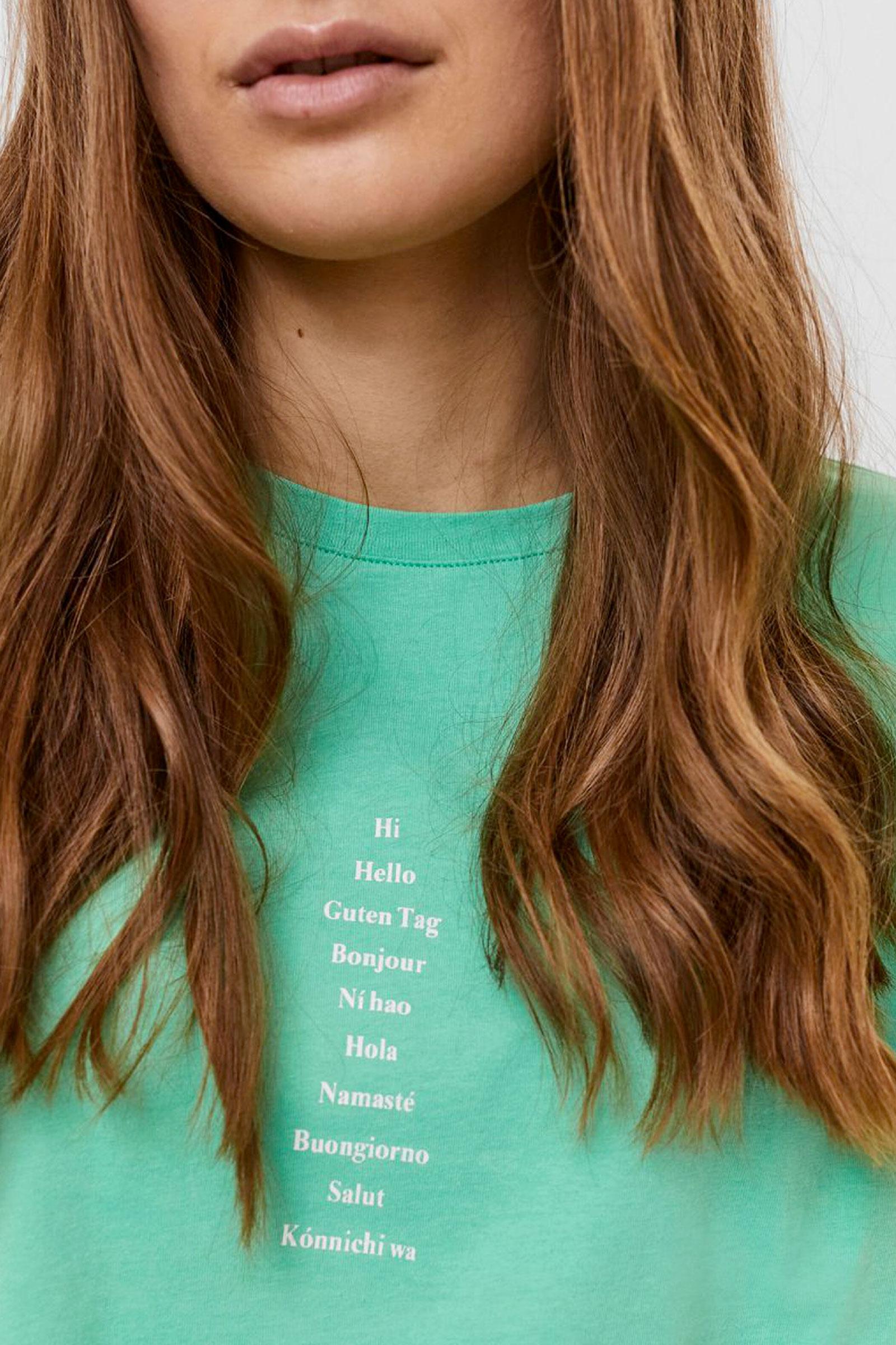 VERO MODA T-SHIRT Donna Modello HOLLIE VERO MODA | T-Shirt | 10245256Print-TEXT IN A LINE