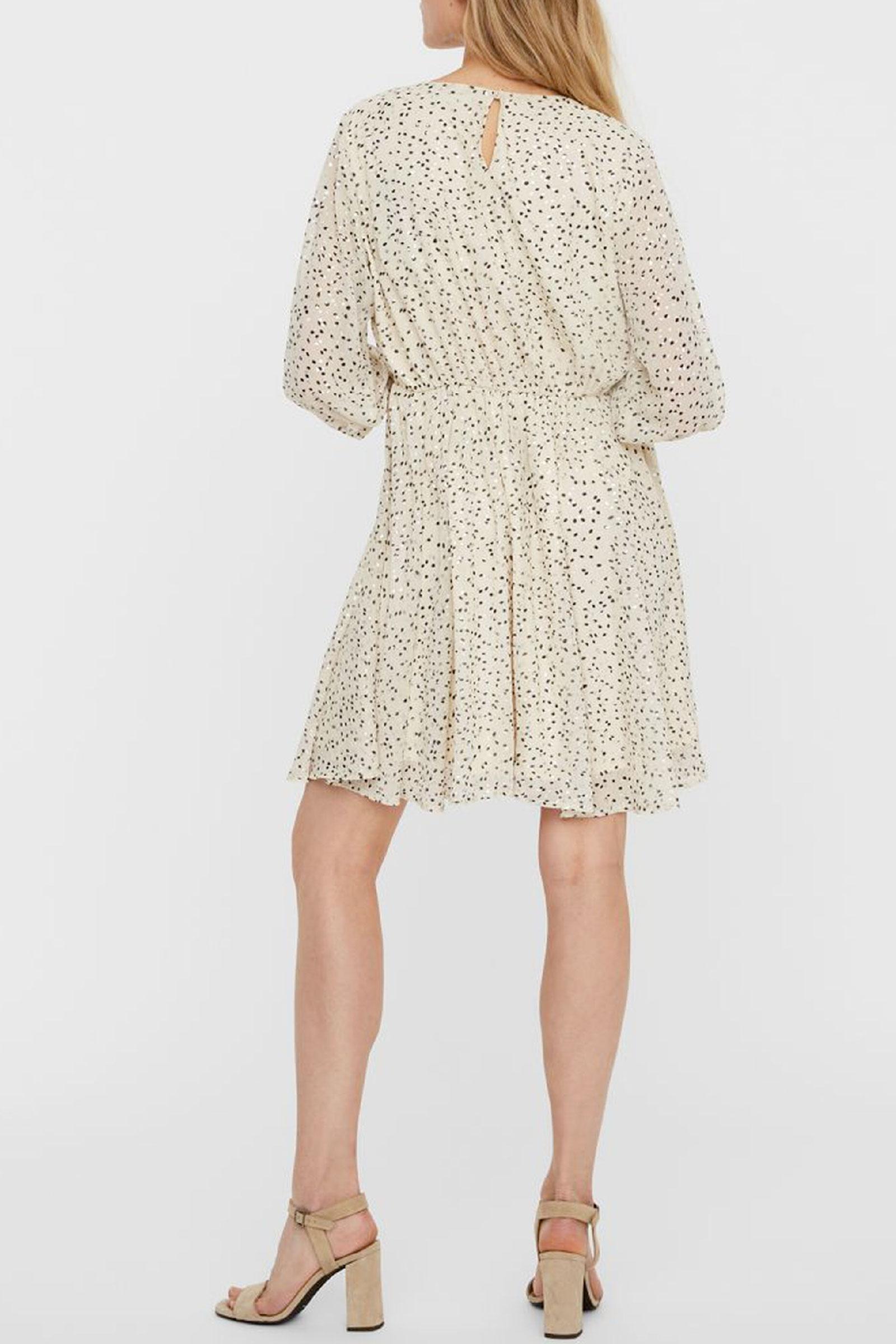 VERO MODA   Dress   10245699Detail-NAVY AND SILVER