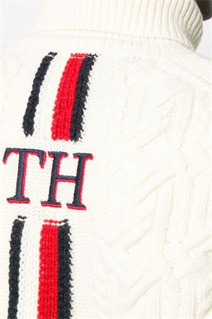 TOMMY HILFIGER Sweater Man OVERSIZED TH MONOGRAM TOMMY HILFIGER | Mesh | MW0MW11686WHISPER WHITE