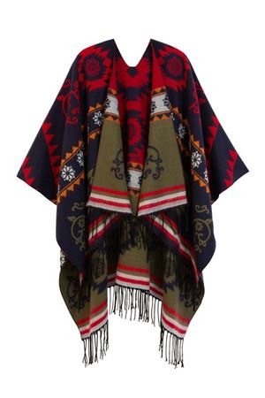 DESIGUAL Poncho Woman Model FREEDOM REVERSIBLE DESIGUAL | Poncho | 20WAIA015000