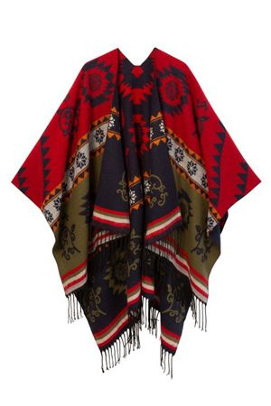 DESIGUAL Poncho Woman Model FREEDOM REVERSIBLE DESIGUAL | Poncho | 20WAIA015000