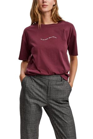 VERO MODA | T-Shirt | 10235139Detail-SNOW WHITE WAVY