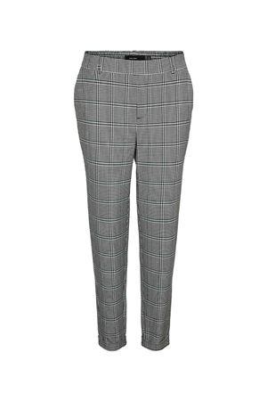 Woman Trousers VERO MODA | Trousers | 10250388Checks-WHITE- SEA MOSS