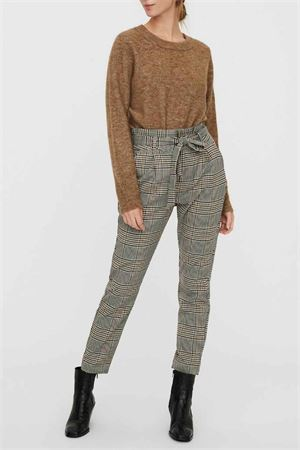 Pantalone Donna VERO MODA | Pantalone | 10250396Checks-BLACK- WHITE- GREEN