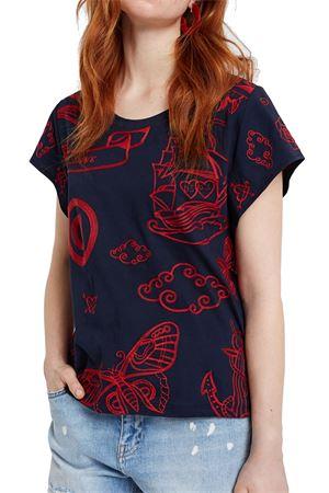 DESIGUAL Woman T-Shirt model MATINERO DESIGUAL      20SWTKAY5000