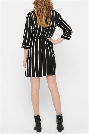 ONLY Tamari shirt dress ONLY | Dress | 15185738Stripes-WHITE-CAMEL STRIPE