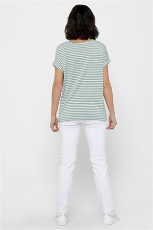 ONLY Woman T-Shirt ONLY | T-Shirt | 15206243Stripes-CLOUD DANCER