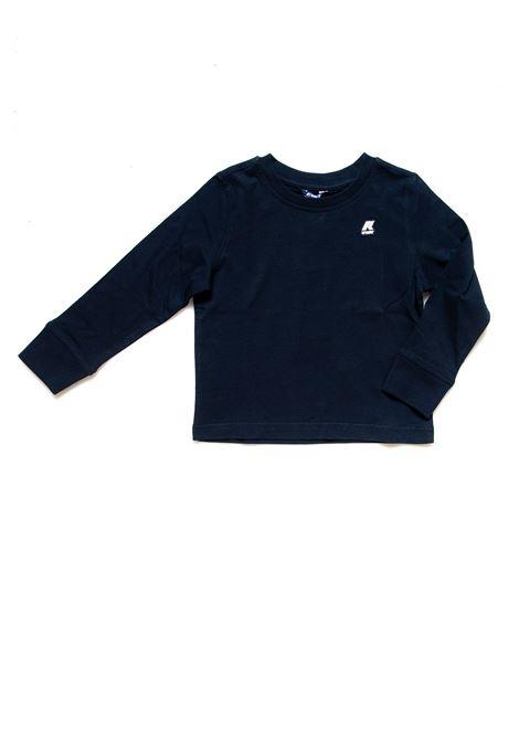 A magliett a manica long po vaglione K-way | Maglietta | K5115EWK89
