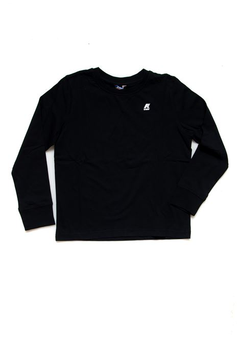 A magliett a manica long po vaglione K-way | Maglietta | K5115EWUSY