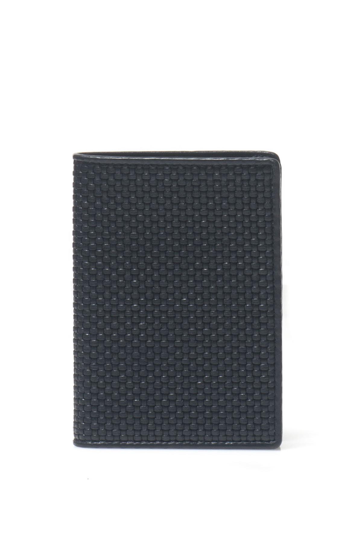Blue woven leather wallet Ermenegildo Zegna N19QbxcS2