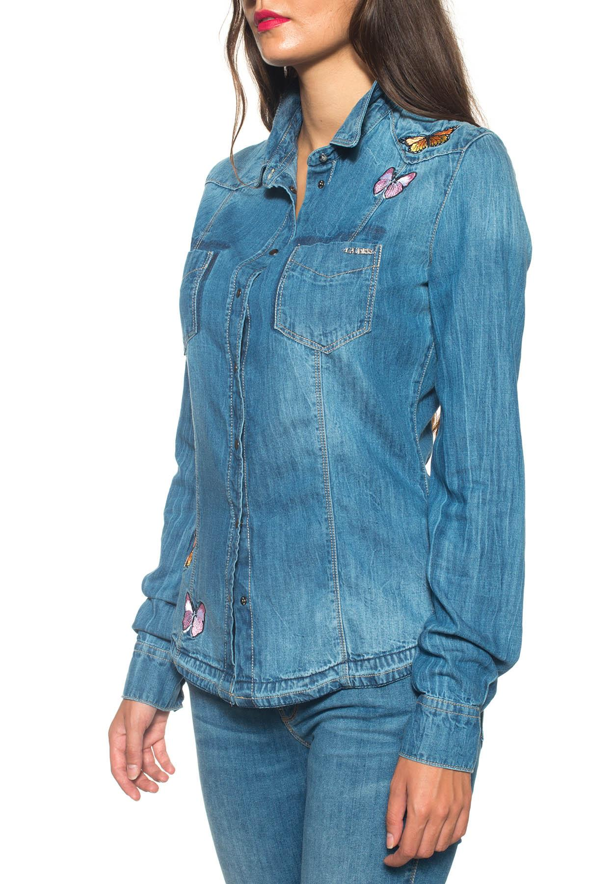 Camicia da donna in jeans