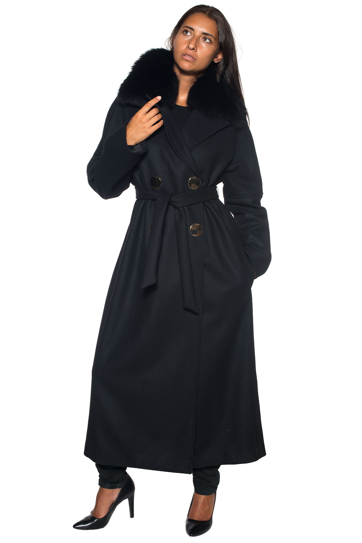Long Coat Versace Collection Colore  nero. Product  G35090-G602961G1008  Availability  Sold out 4dcd71e9946