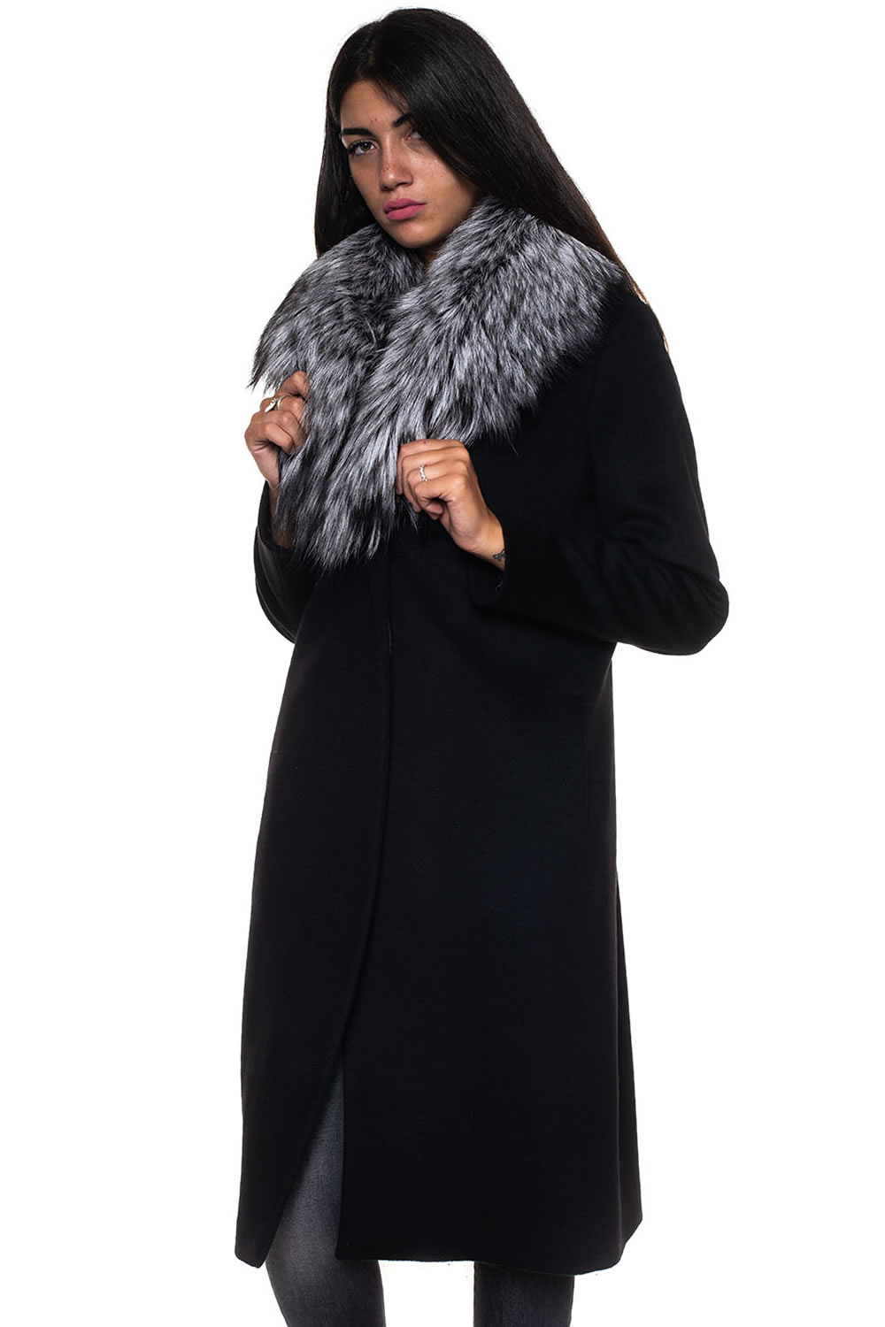 outlet store df140 717bc Cappotto lungo