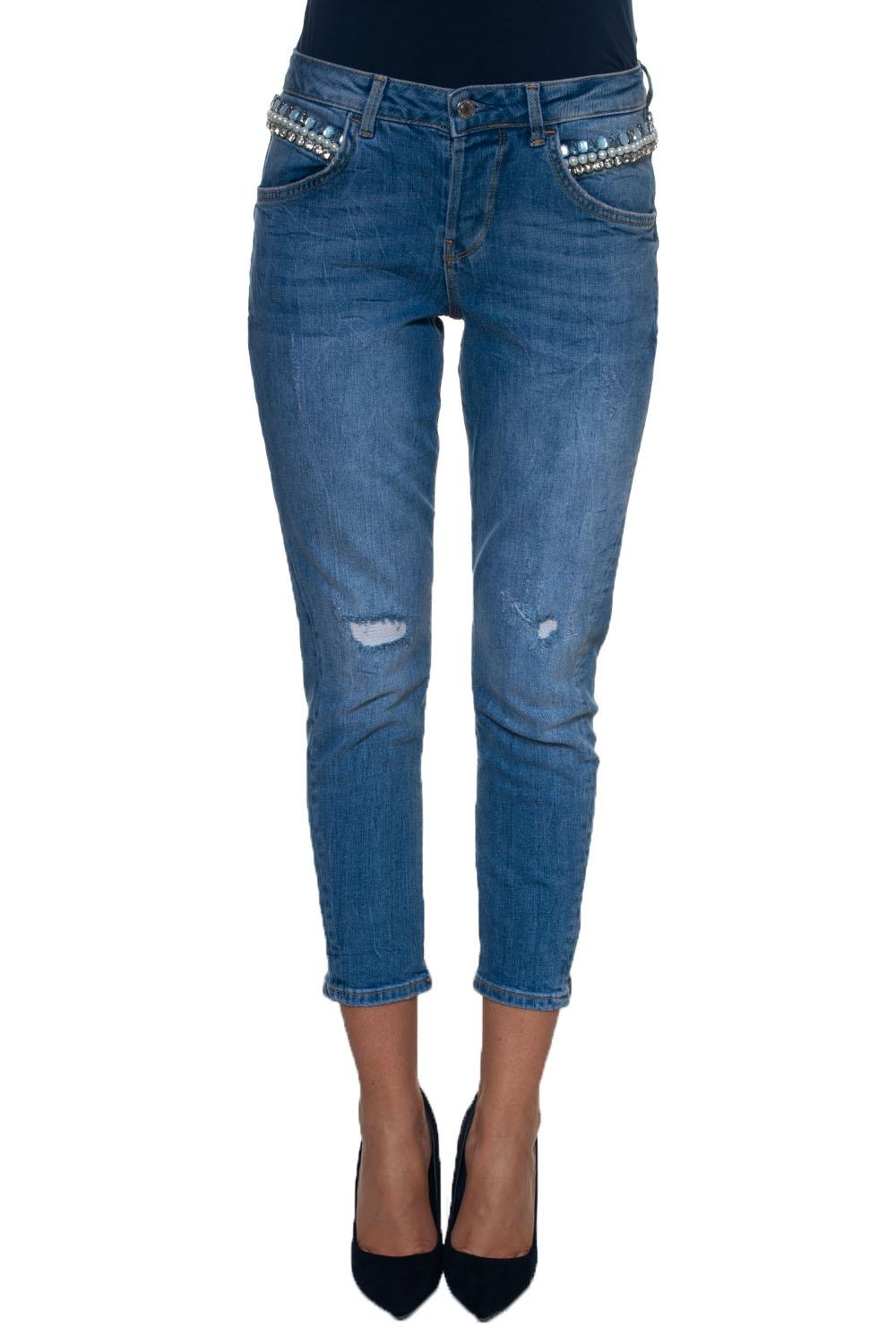 new products f254f 790eb Jeans 5 tasche con rotture Vanille Relaxed Low