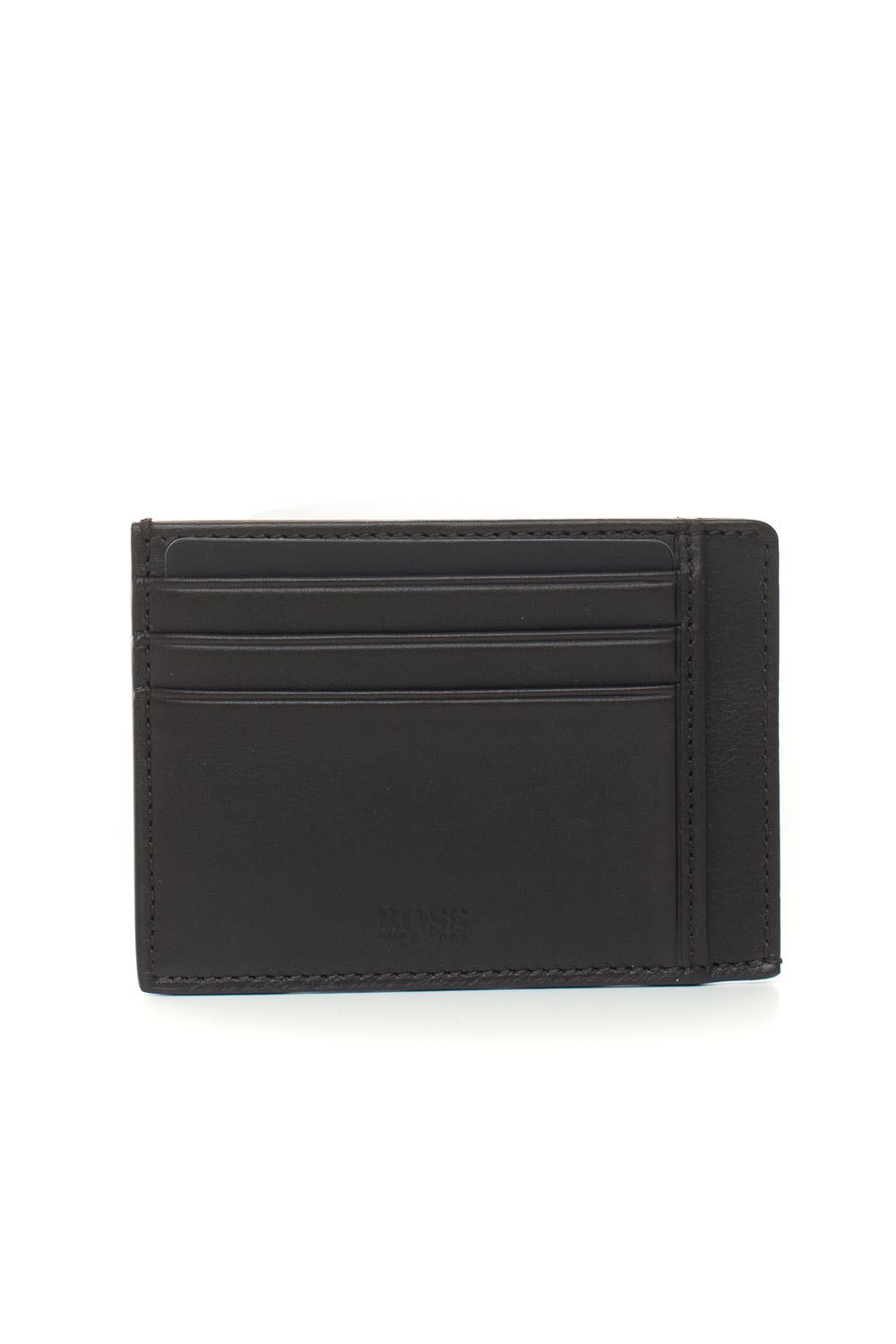 Hugo Boss Boss Credit Card Holder Brown Leather Man