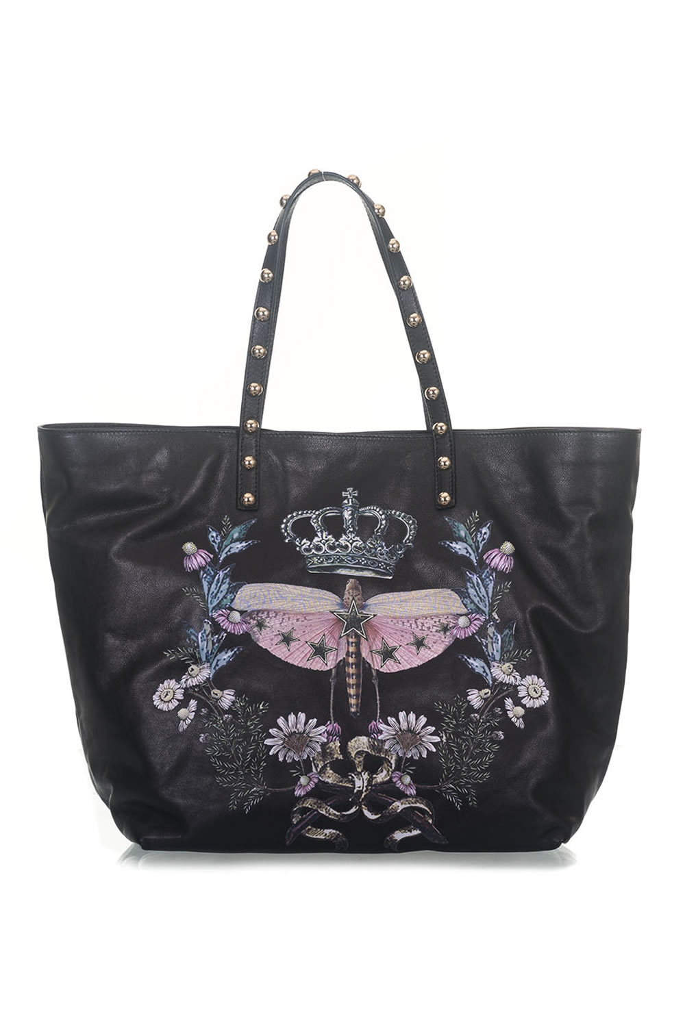 Leather shopping bag Red Valentino Colore  nero. Product  PQ2B0631-CCR0NO  Availability  Sold out a74a5b6cbd3