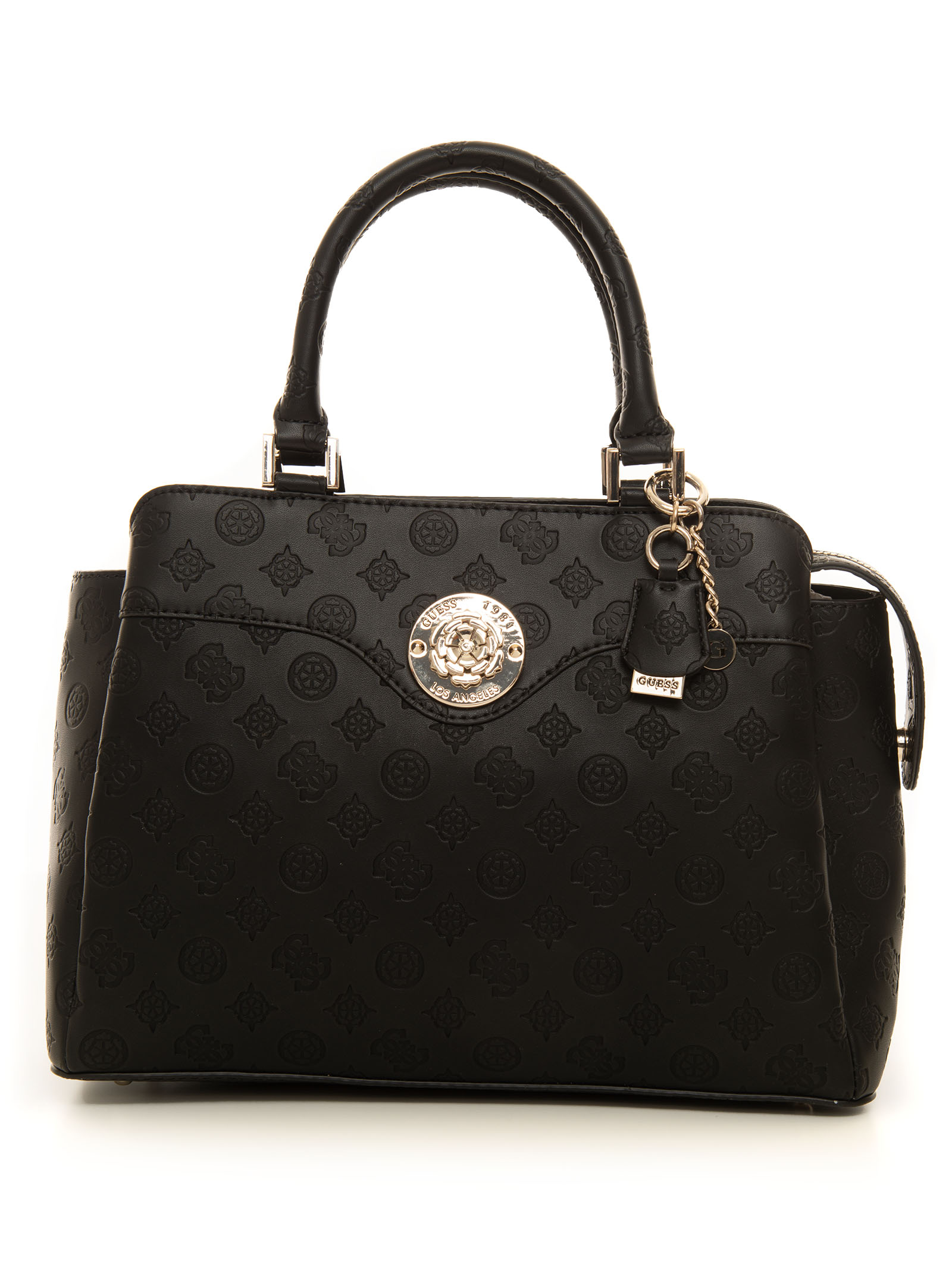 Guess DAYANE MEDIUM SIZE BAG BLACK POLYESTER WOMAN