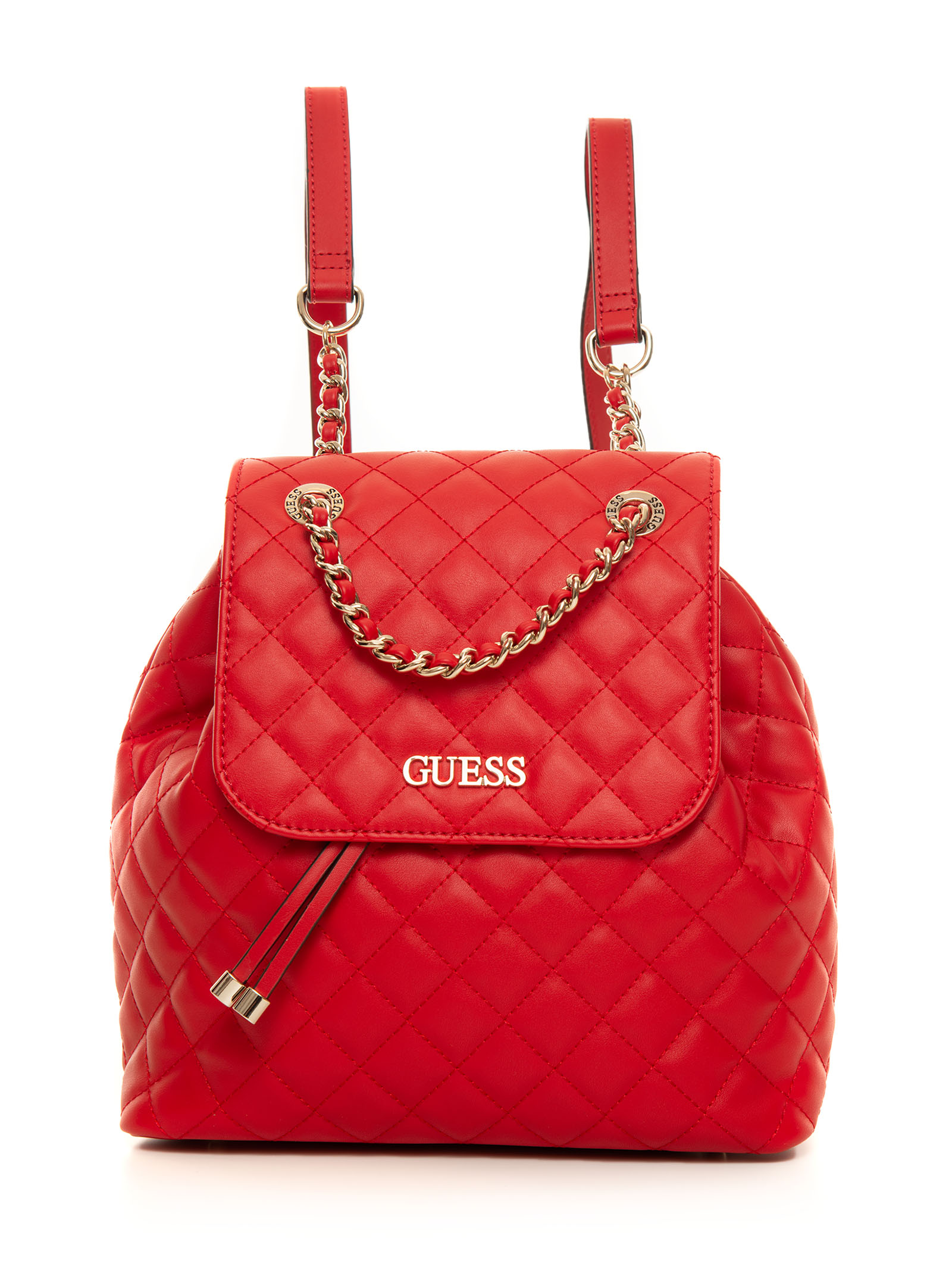 Guess Illy Canvas Rucksack Red Polyurethane Woman