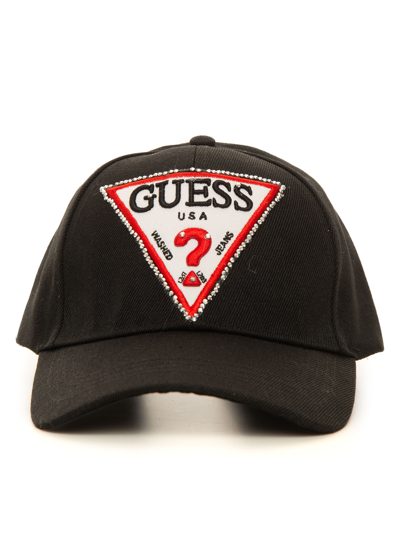 Guess Caps BASEBALL CAP BLACK POLYESTER WOMAN