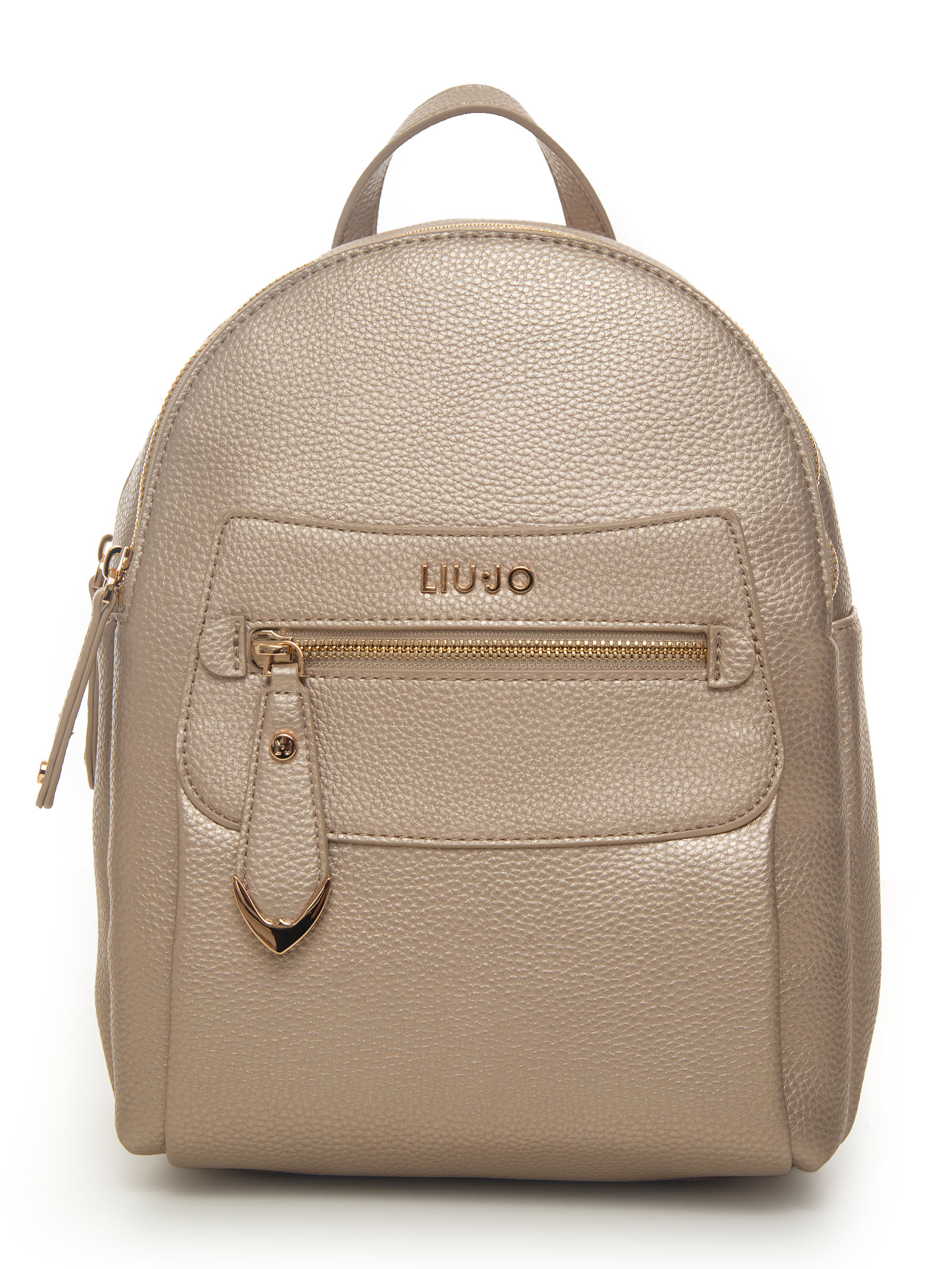 Liu •jo GENTILE BACKPACK GOLD POLYESTER WOMAN