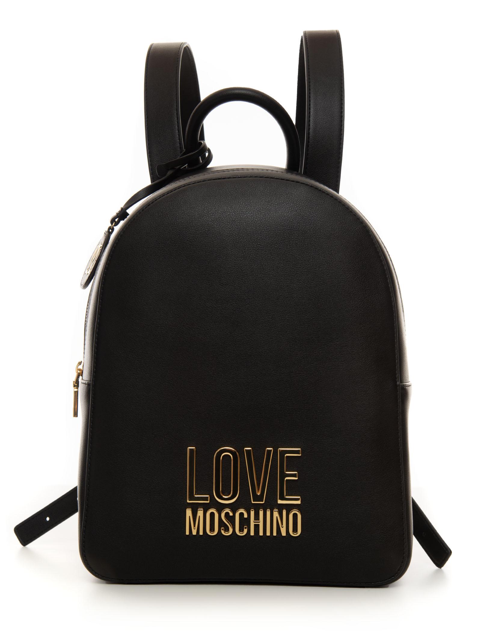 Love Moschino BACKPACK BLACK POLYURETHANE WOMAN