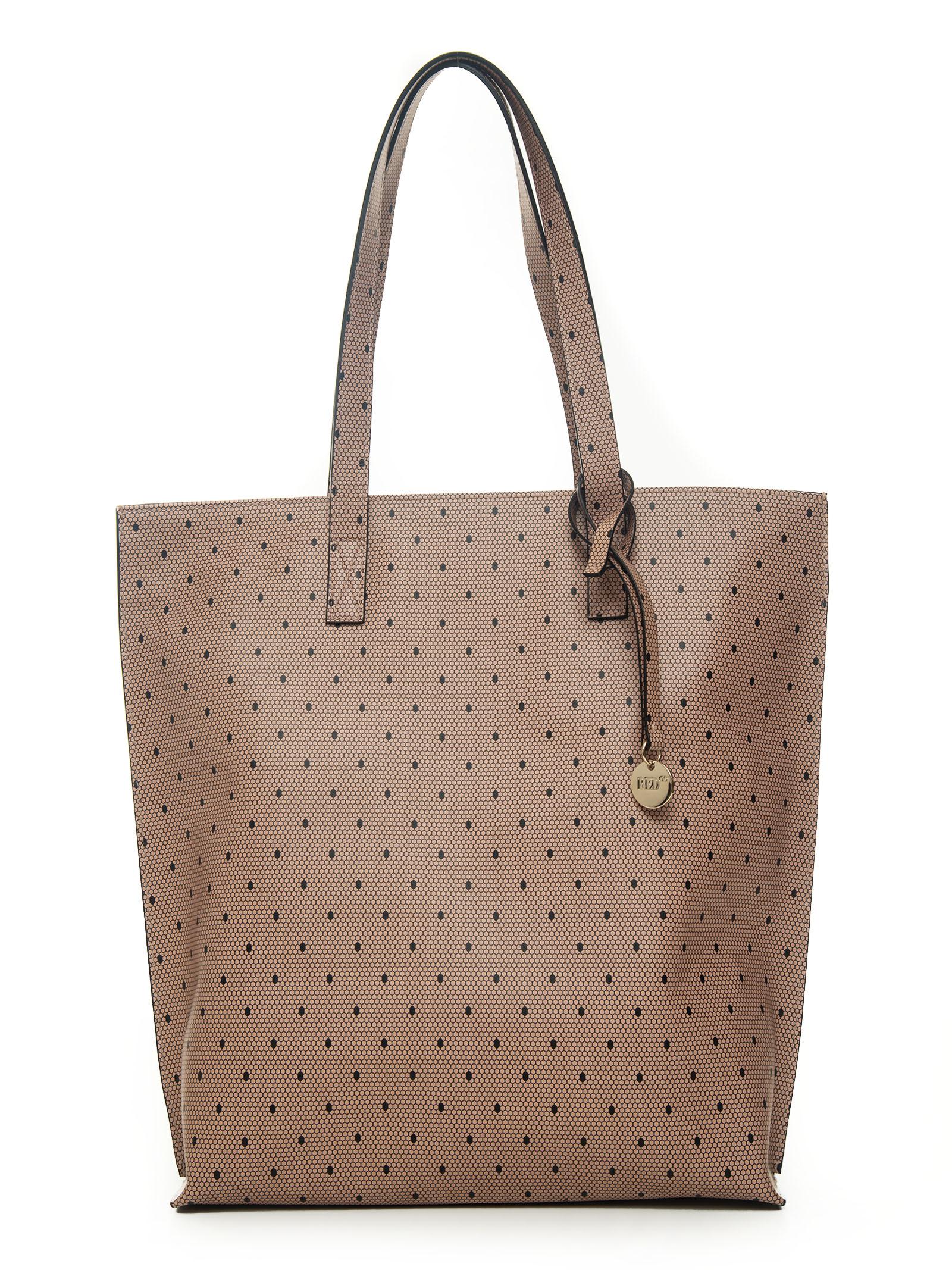 Redv LARGE SHOPPING BAG BEIGE/NERO  WOMAN