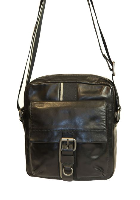 Leather shoulder bag BOSS | 20000001 | TEST50127846001