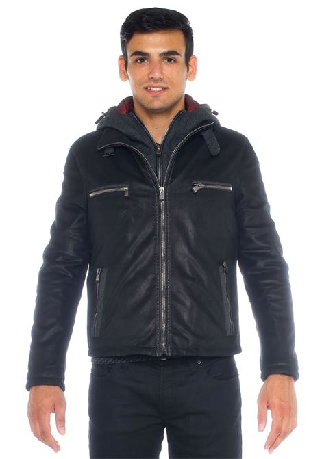 Leather harrington jacket Latini | -276790253 | 271115I/1913100