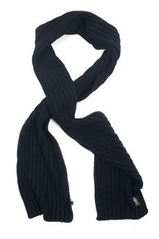 Large ribbed scarf Refrigue | 77 | SCARF-R85278NAQ2UBLACK