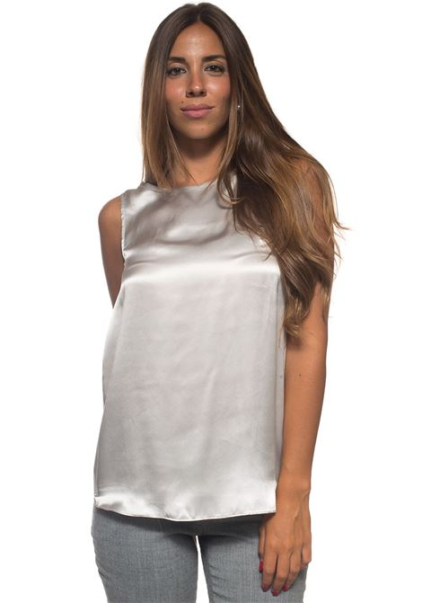 Top in seta Blubianco | 40 | TEQUILA002