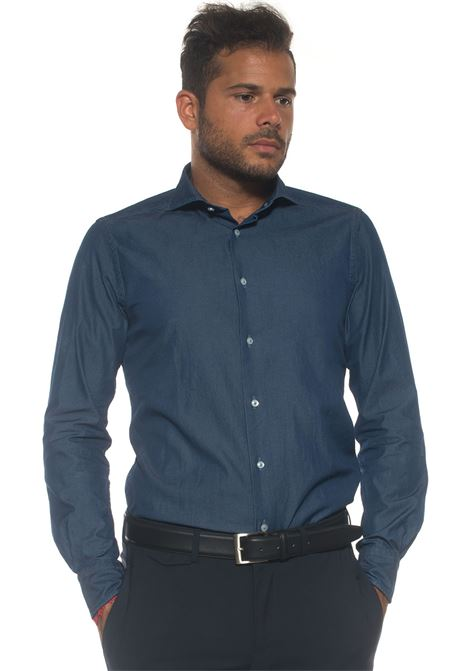 Camicia da uomo in jeans Carrel | 6 | 422-706302