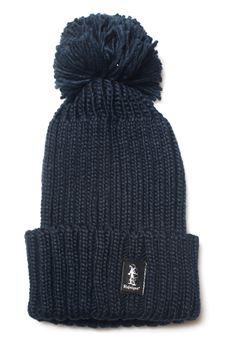 Cappello a coste con pon pon Refrigue | 5032318 | CAP-R85320NAR2UNIGHT BLUE