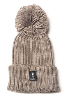 Rib hat with pom poms Refrigue | 5032318 | CAP-R85320NAR2UROPE