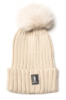 Rib hat with pom poms Refrigue | 5032318 | CAP-R85322NAR2WCREAM